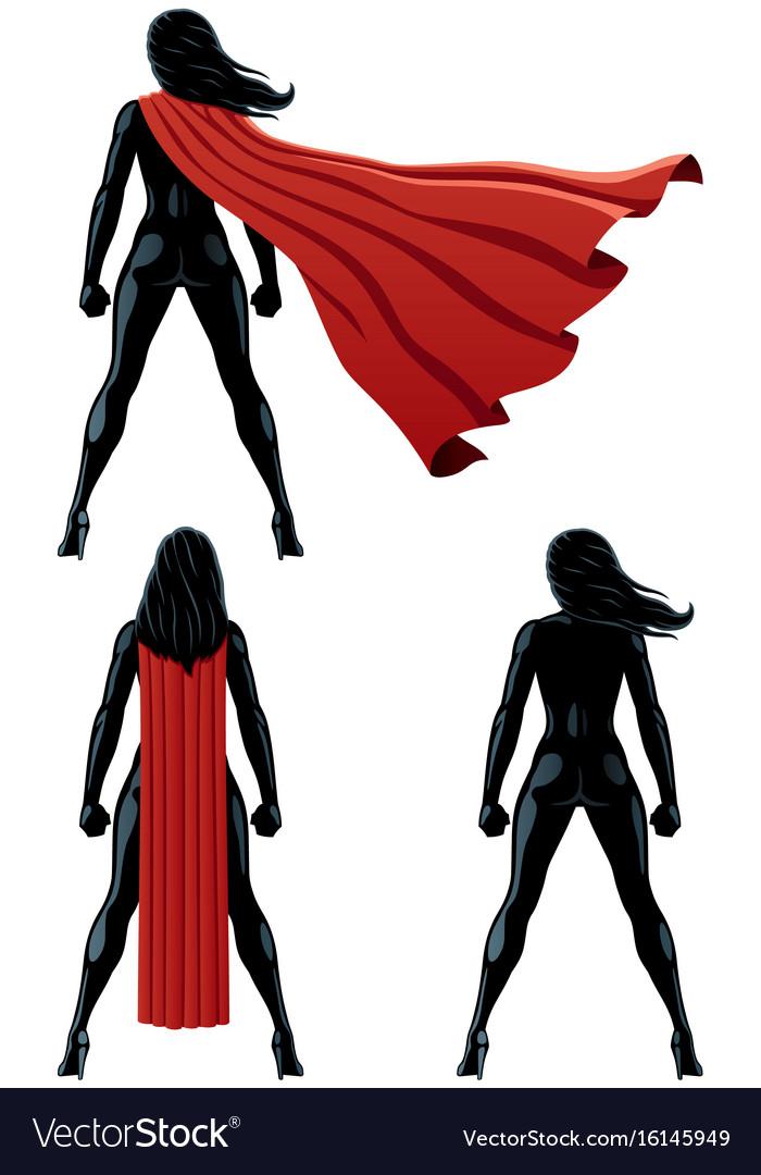 Super heroine back vector image