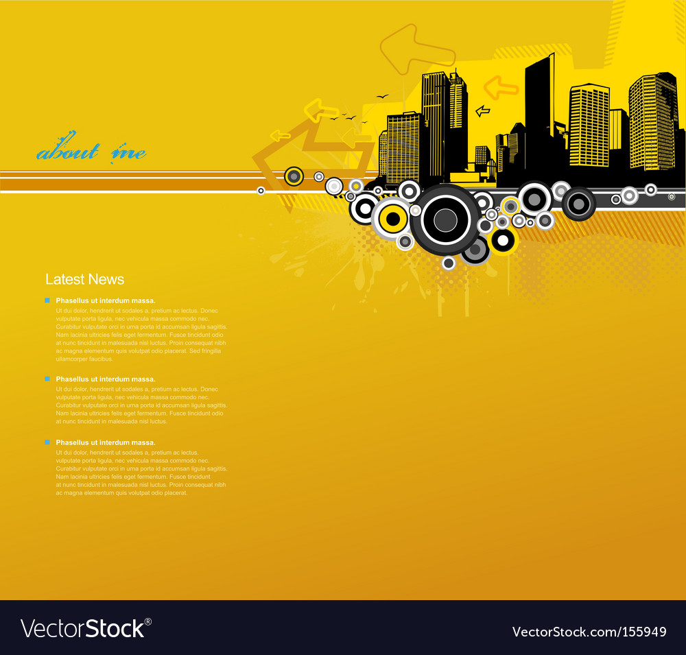 Template with city vector image