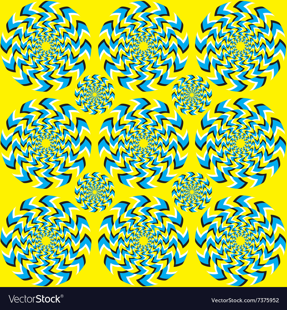 Hypnotic of rotation vector image