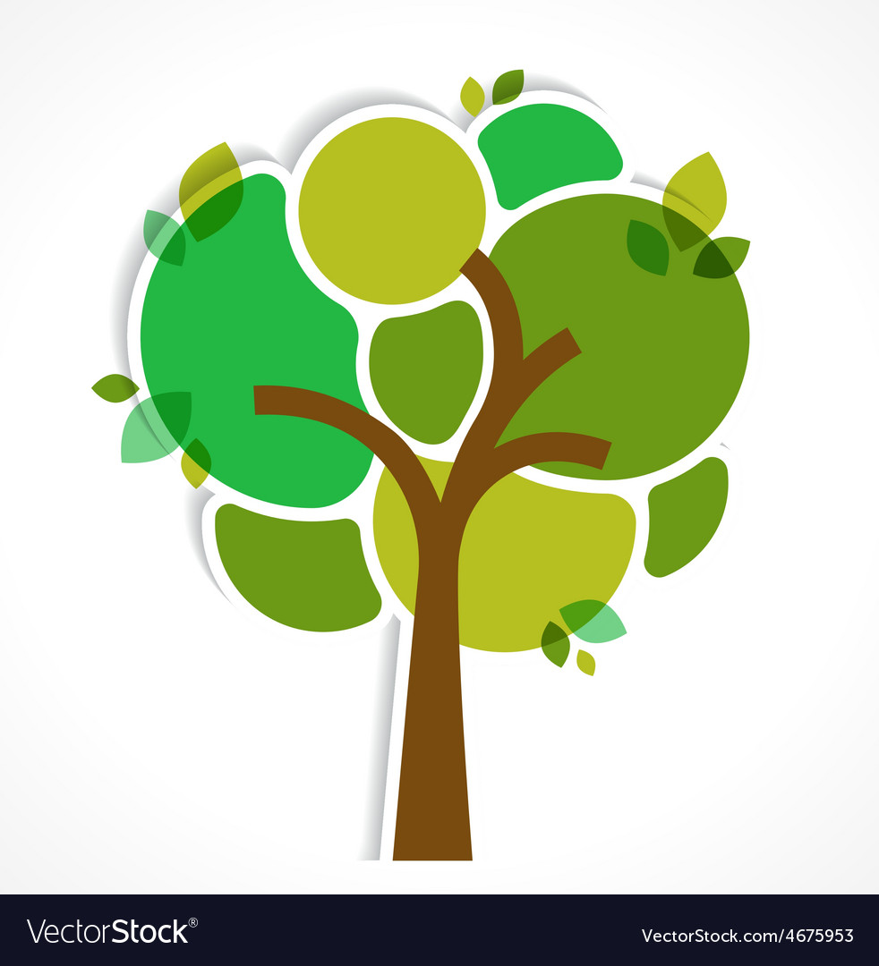 Green tree - background and infographics vector image