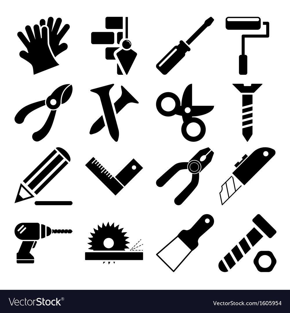 Tools Icons Vol 2 vector image