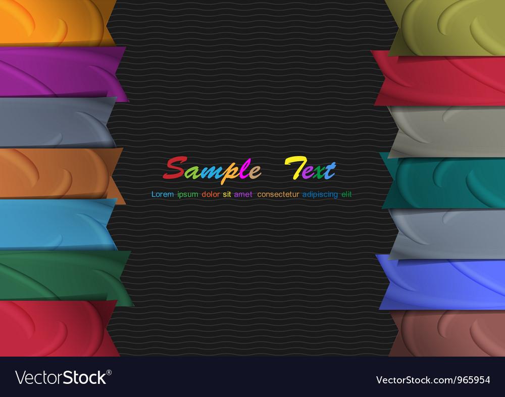 Colorful silk ribbons vector image