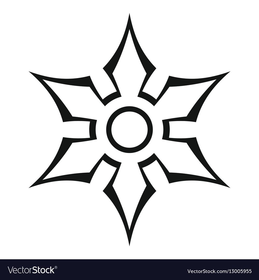 Ninja shuriken star weapon icon outline style vector image