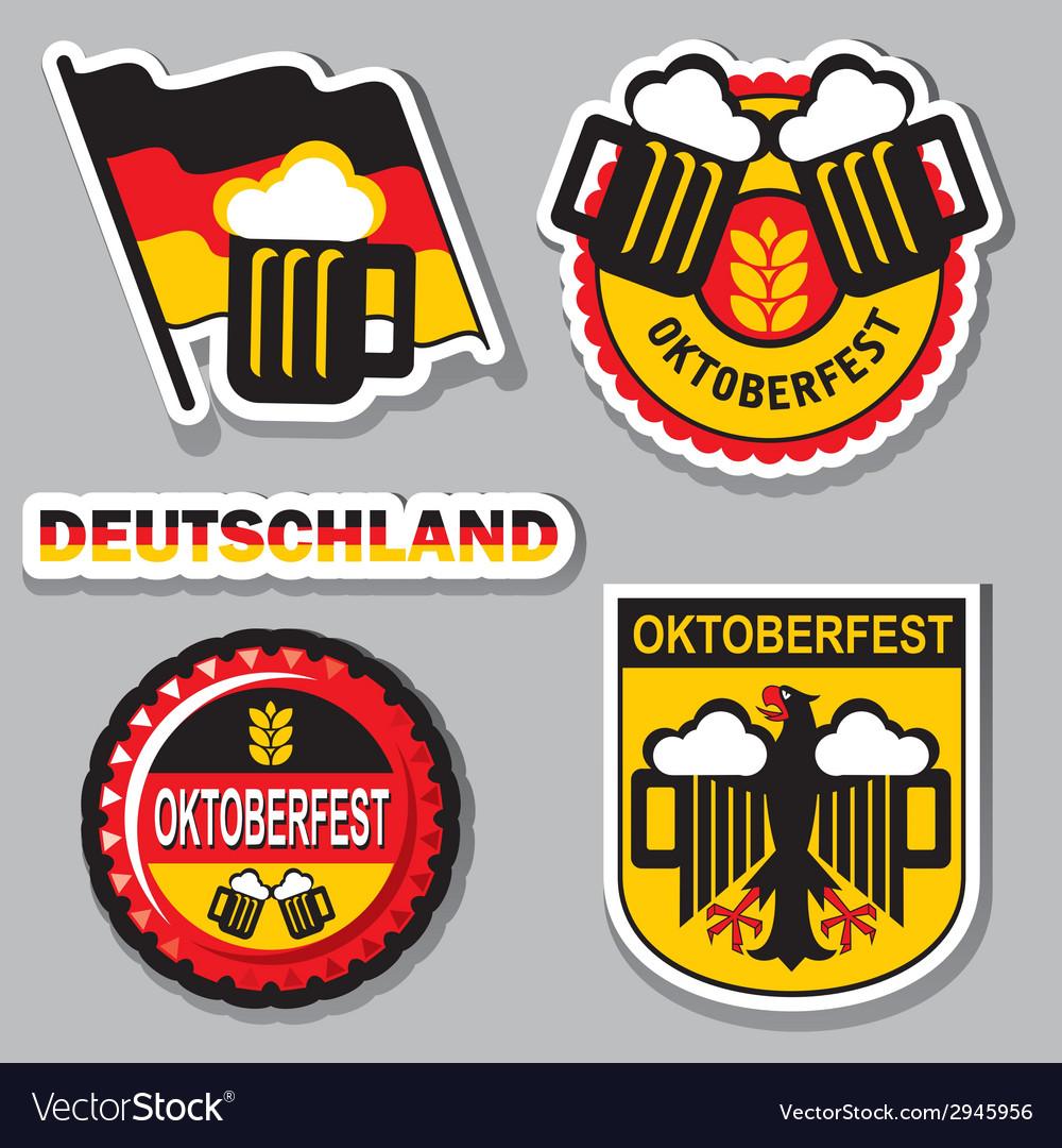Oktoberfest label vector image