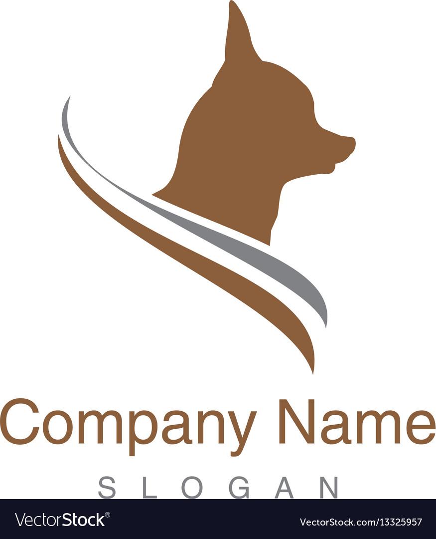 Chihuahua dog logo vector image