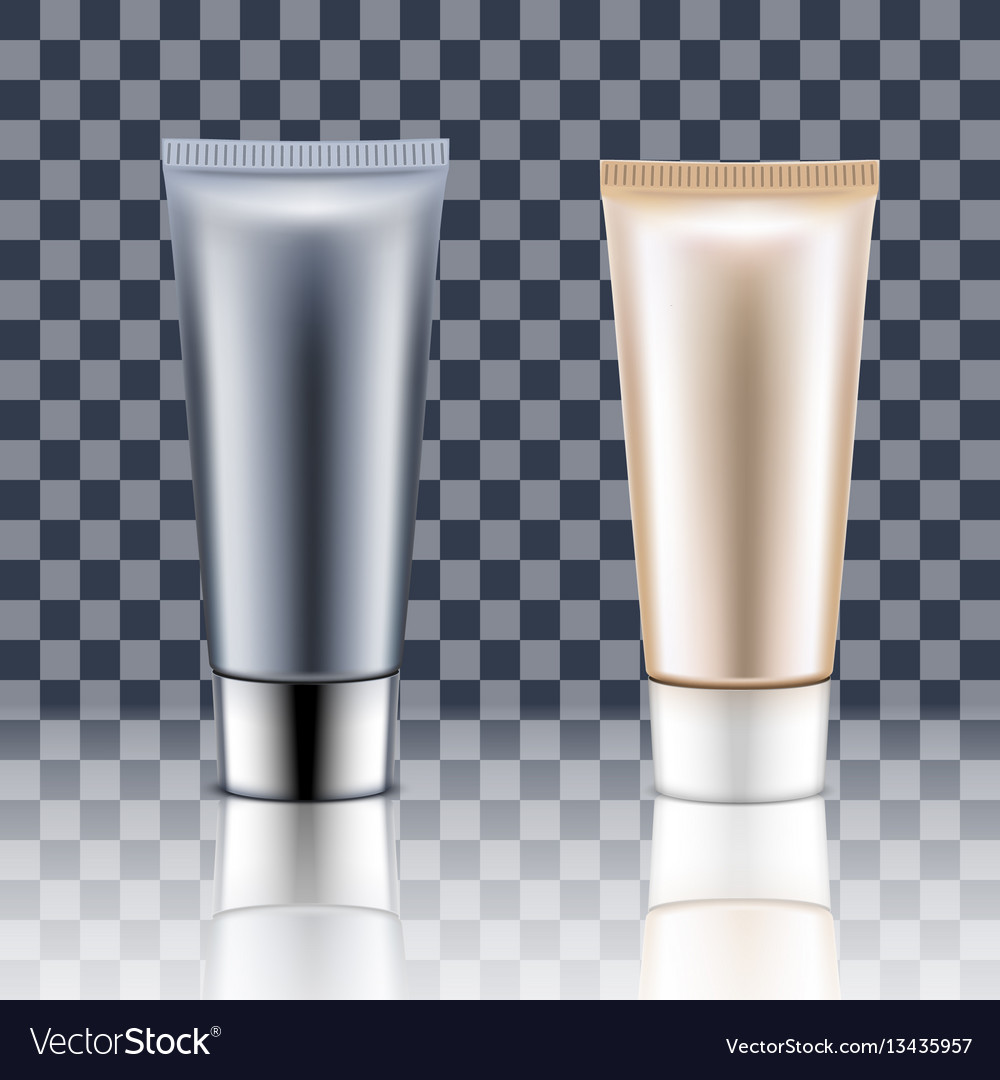 Tube cream on a transparent background vector image