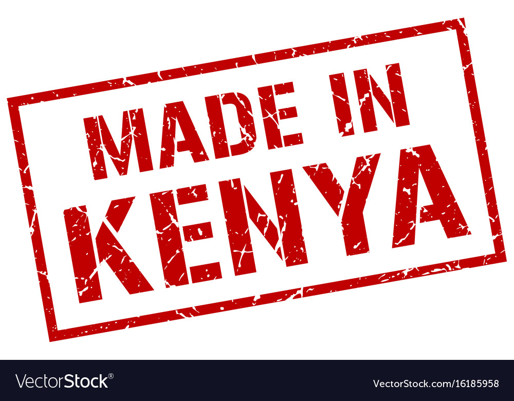 Made in kenya stamp vector image