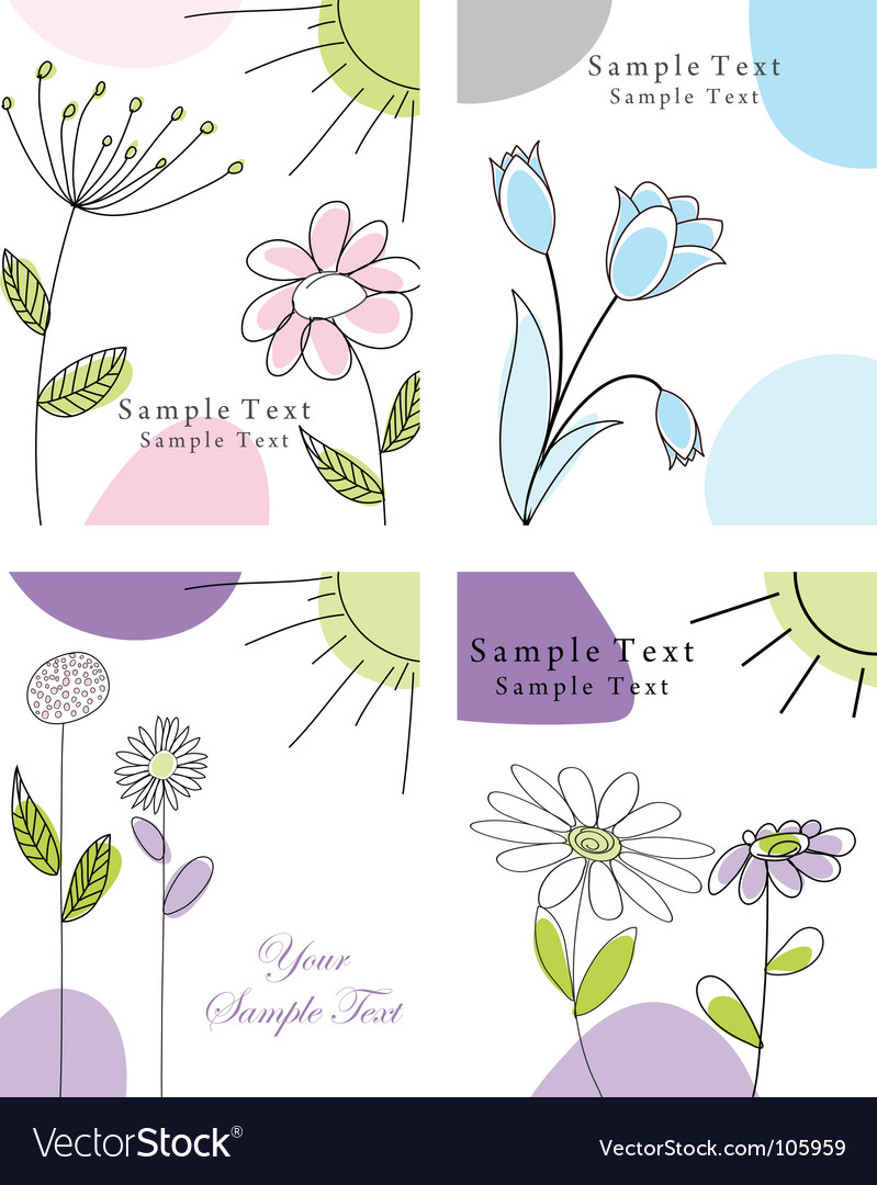 Set of greeting cards vector image