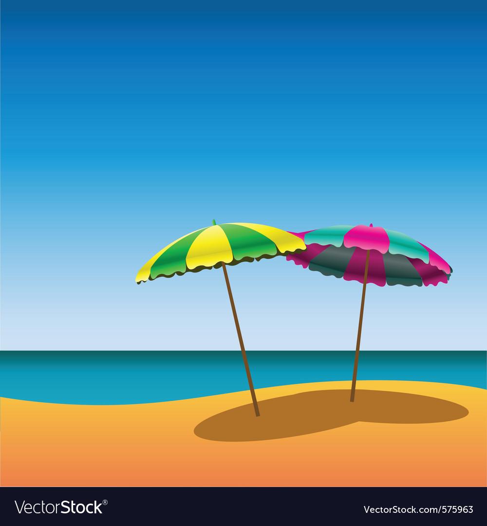 Parasols vector image
