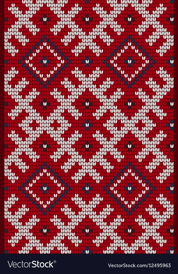 Traditional Baltic knitting pattern vector image