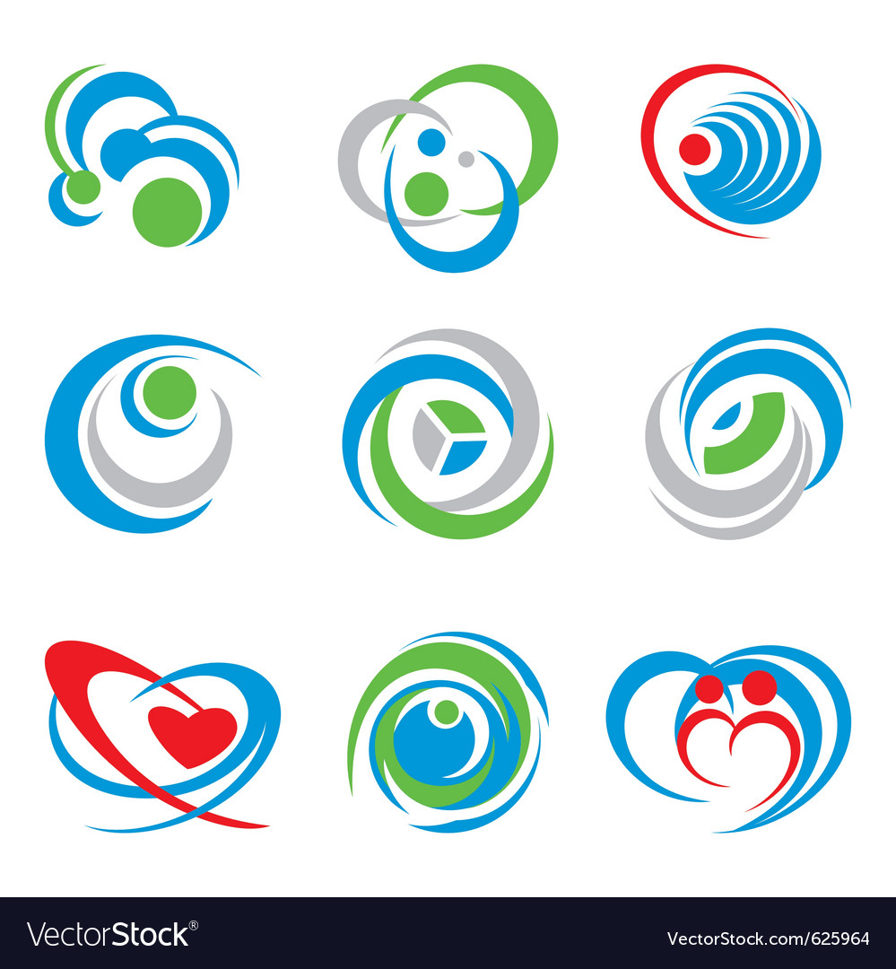 Icons and symbols vector image