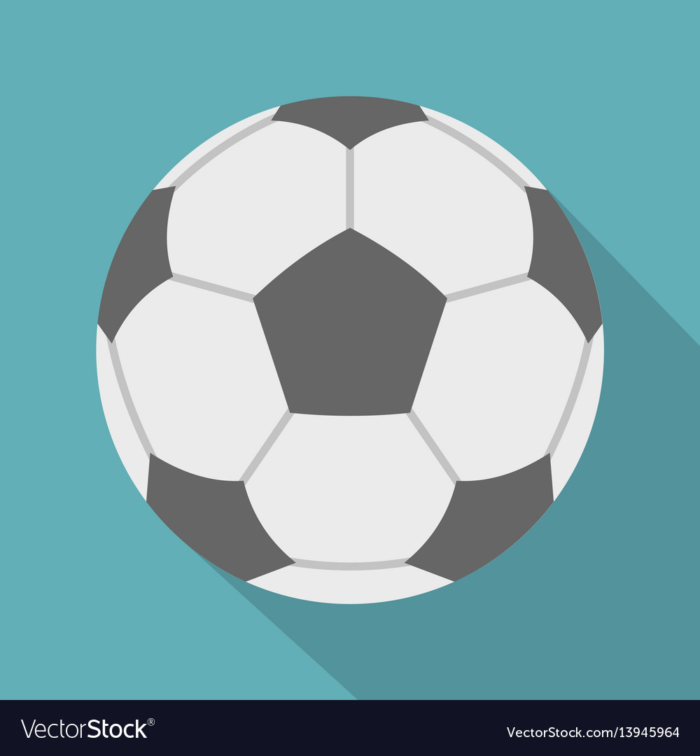 Soccer ball icon flat style vector image