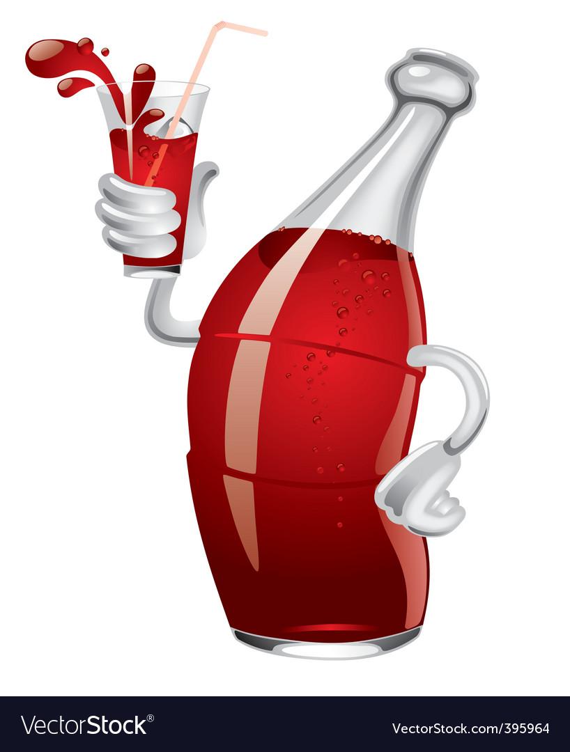 Soda bottle vector image