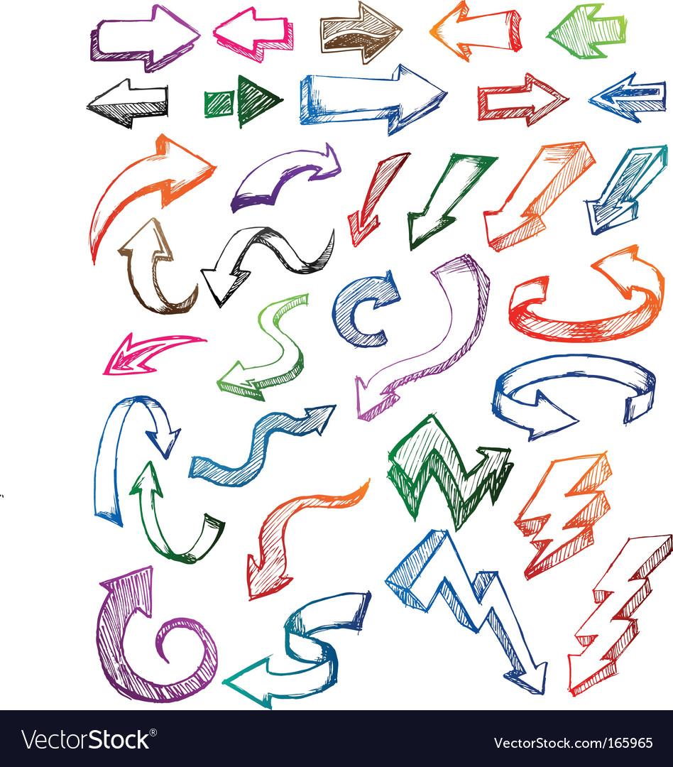 Arrow sketch vector image