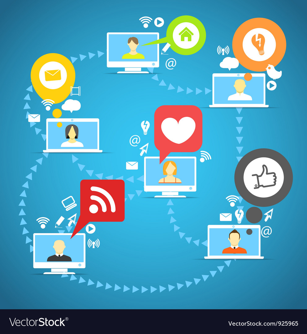 Global social network vector image