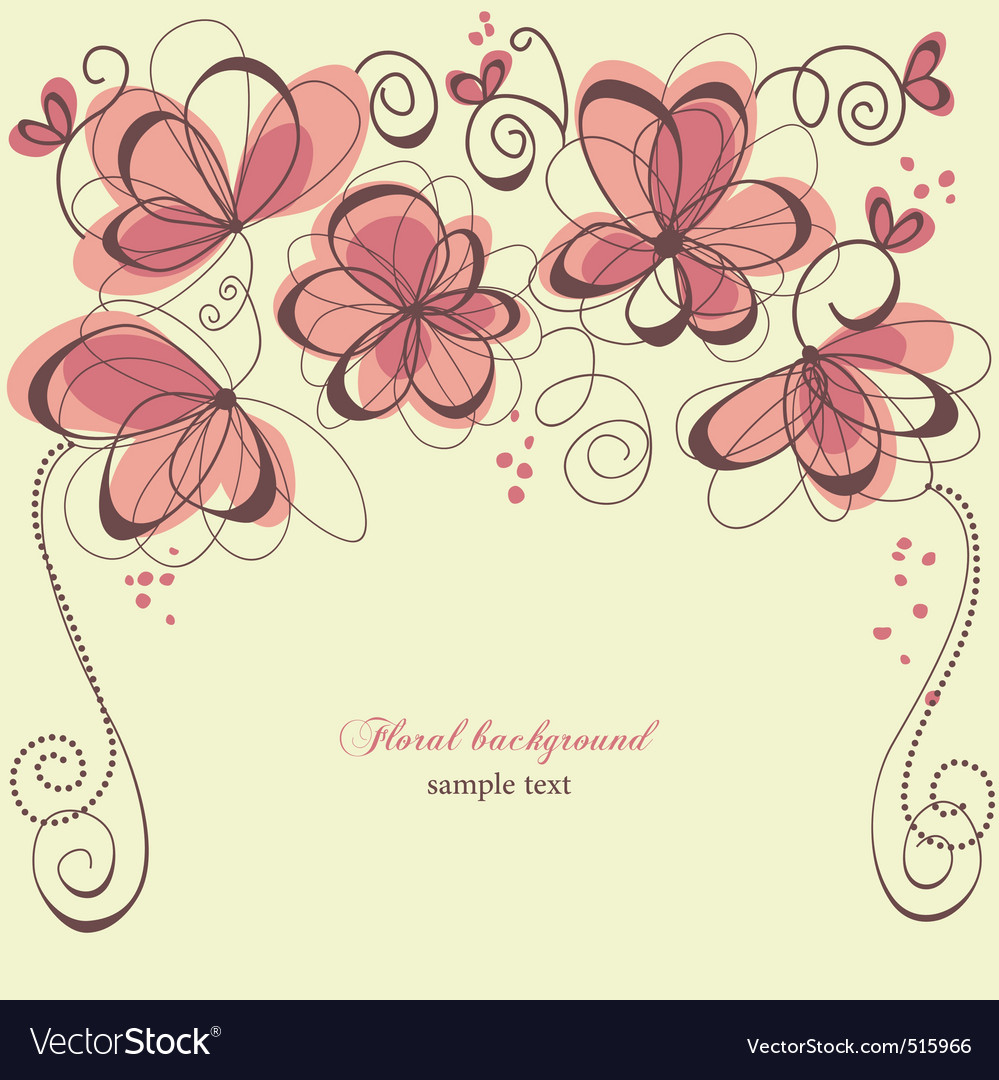 Romantic invitation Vector Image