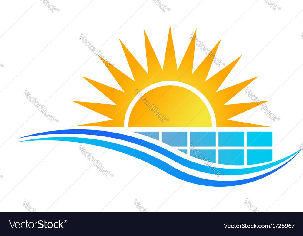 solar panel logo royalty free vector image vectorstock