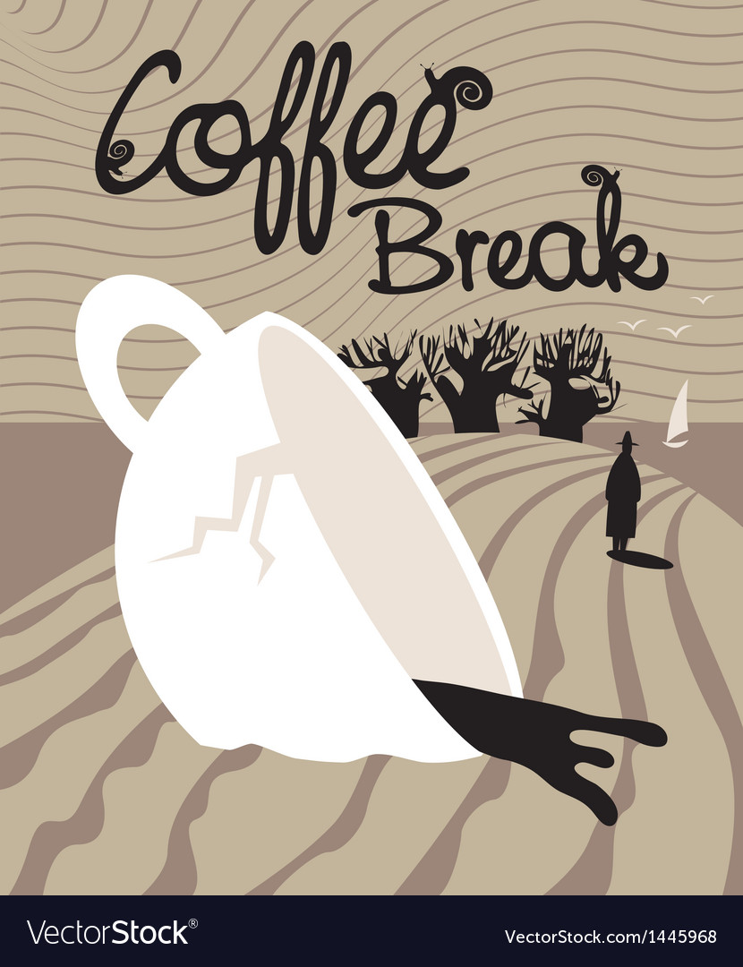 Dream of a coffee break vector image