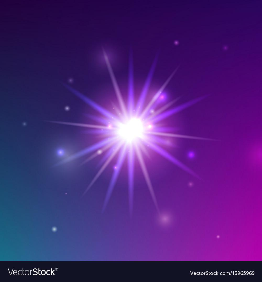 Glowing light shine vector image