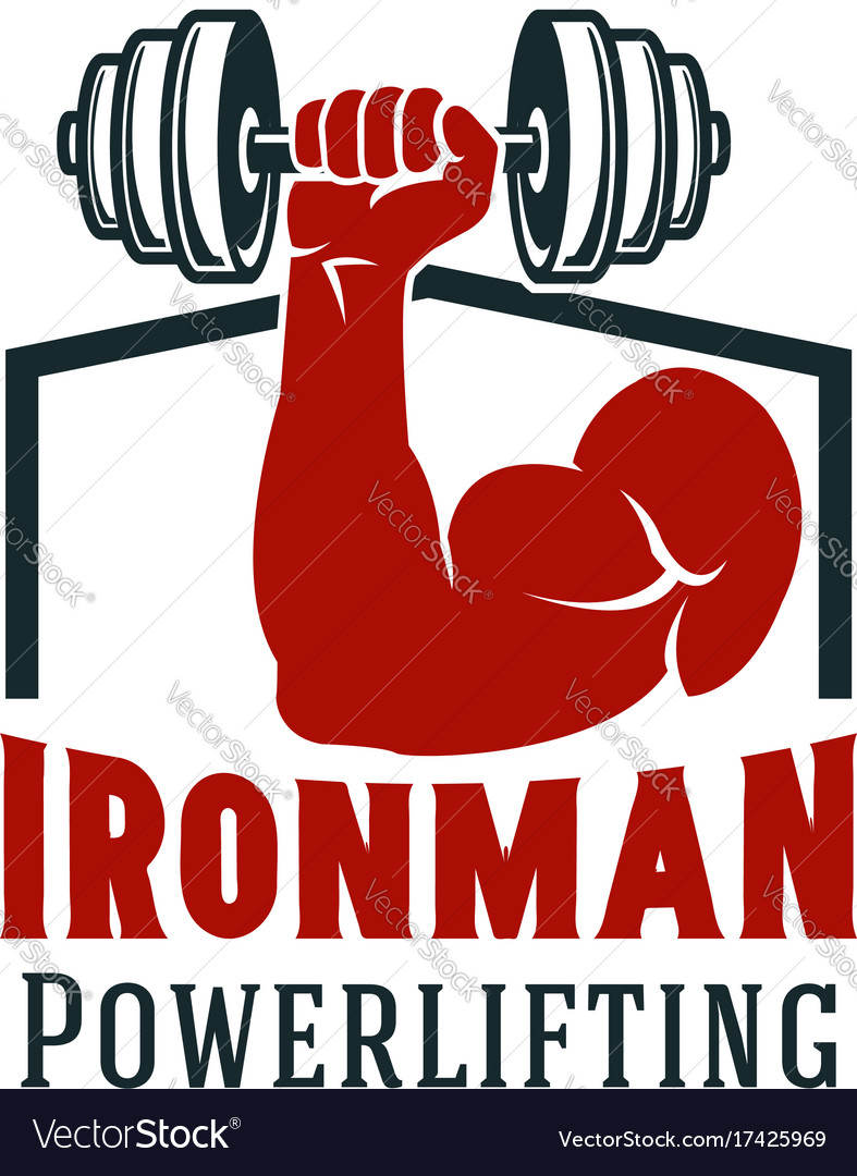 Gym and fitness sport club symbol design vector image