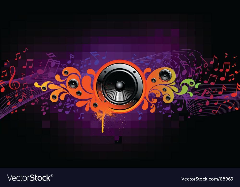 Sound splash vector image