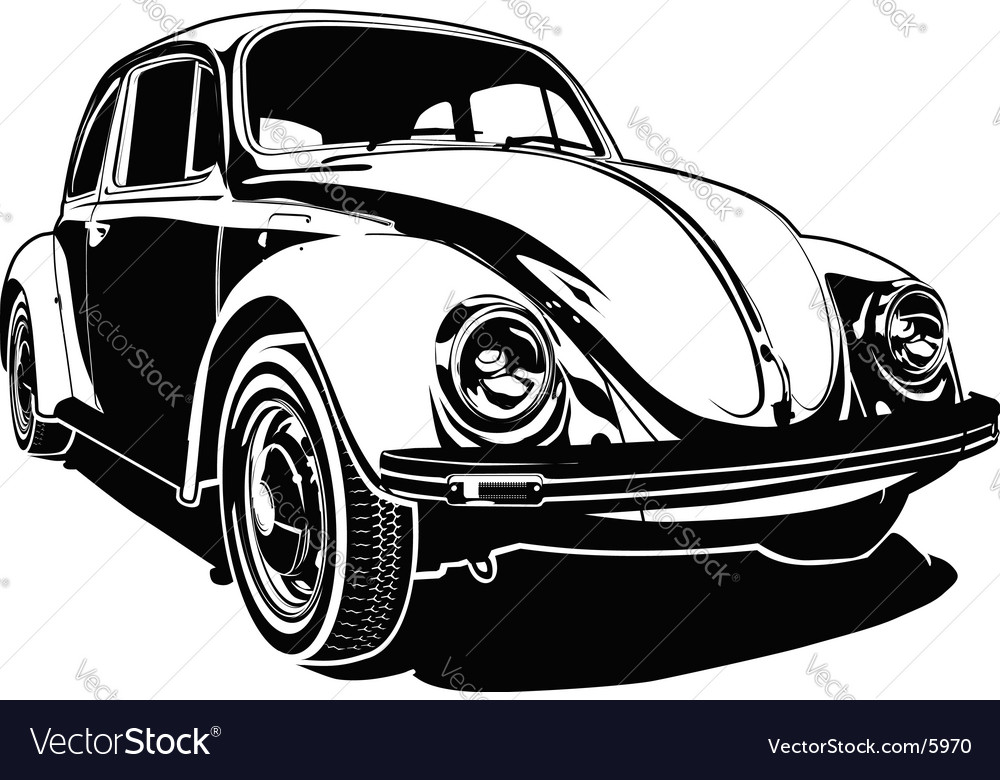 VW bug vector image