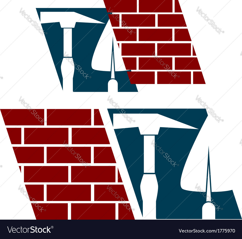 Symbol construction business vector image