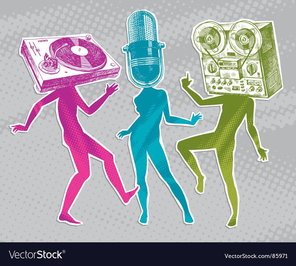 Equipment heads vector image