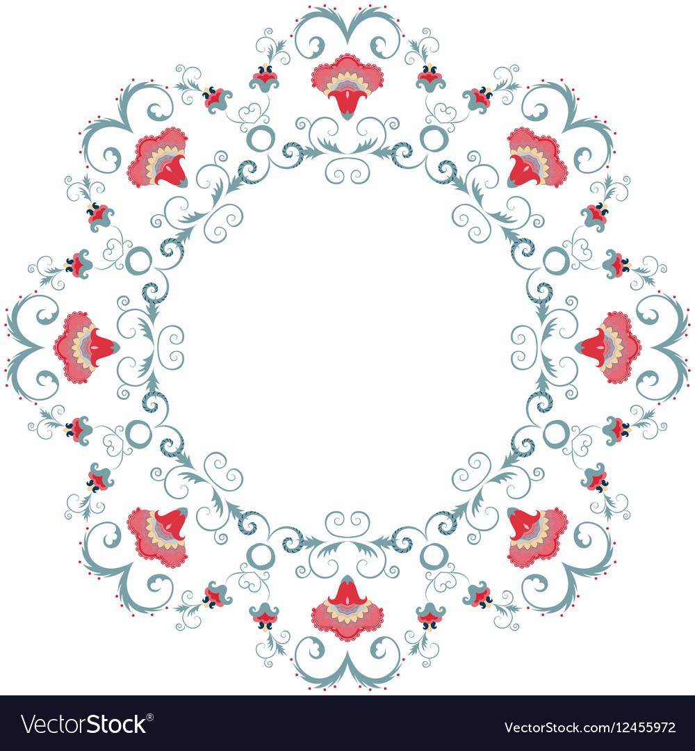 Abstract floral frame design element vector image