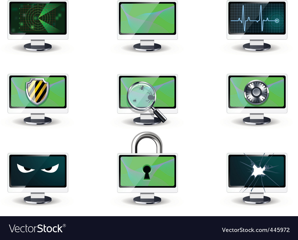 Computer security concepts vector image