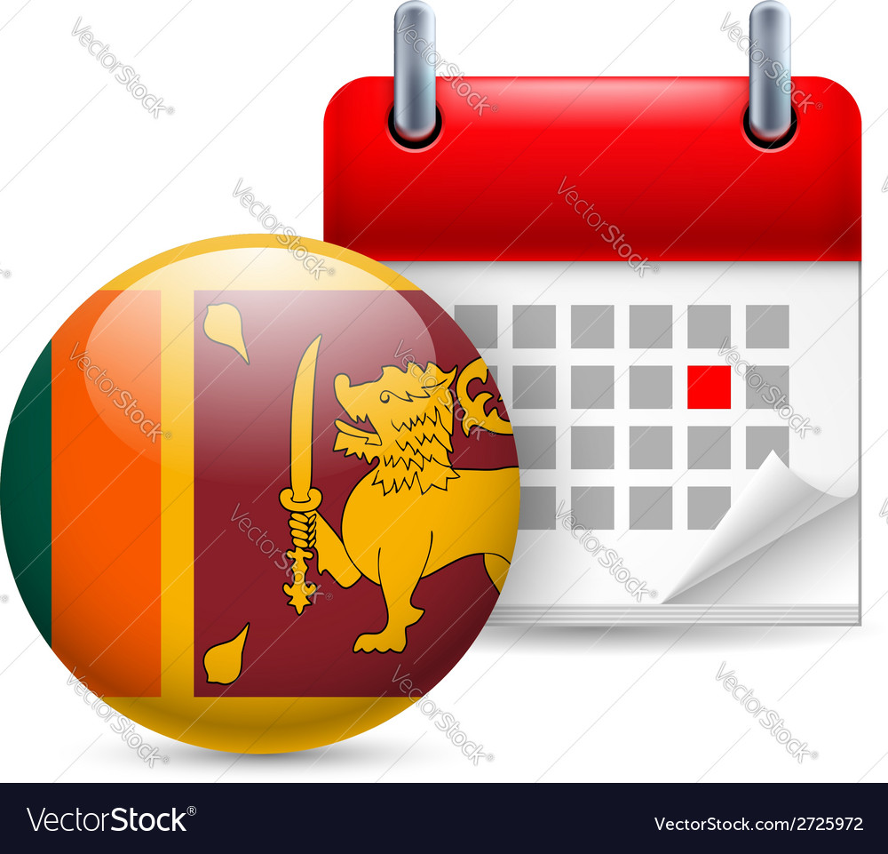 Icon of National Day in Sri Lanka vector image