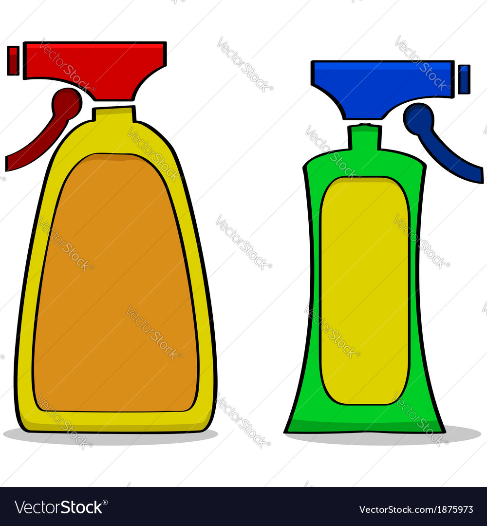 Cleaning products vector image
