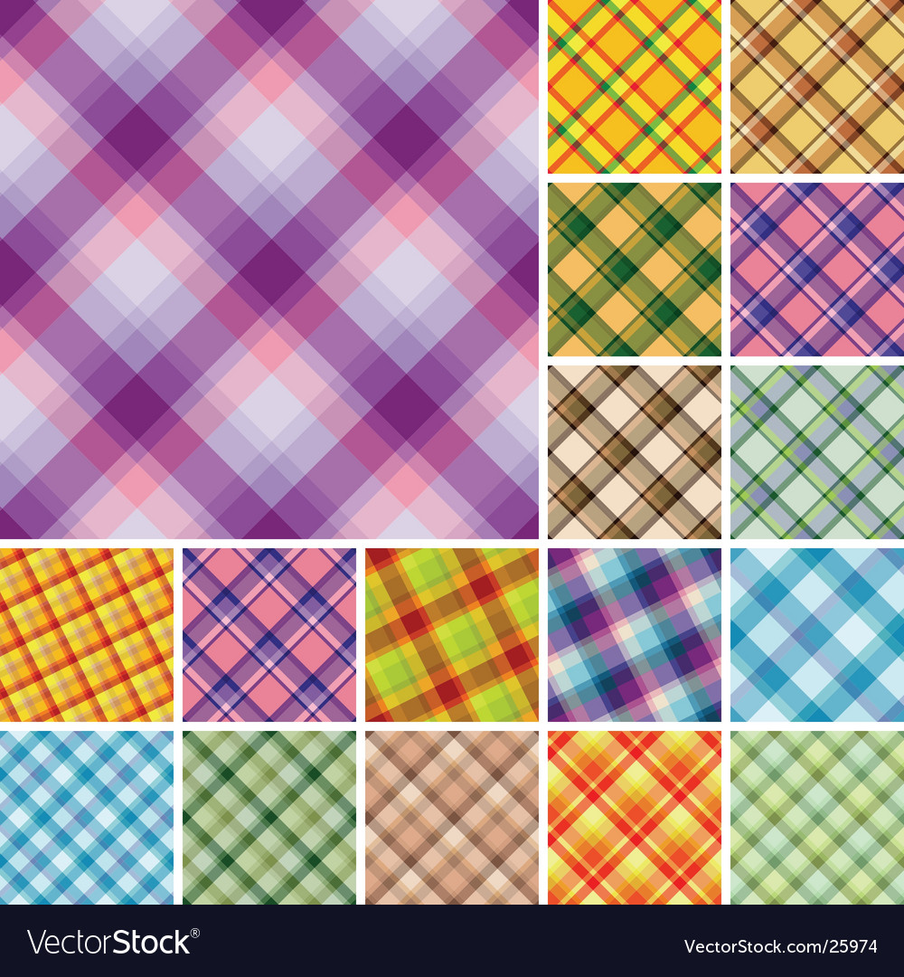 Set of plaids vector image