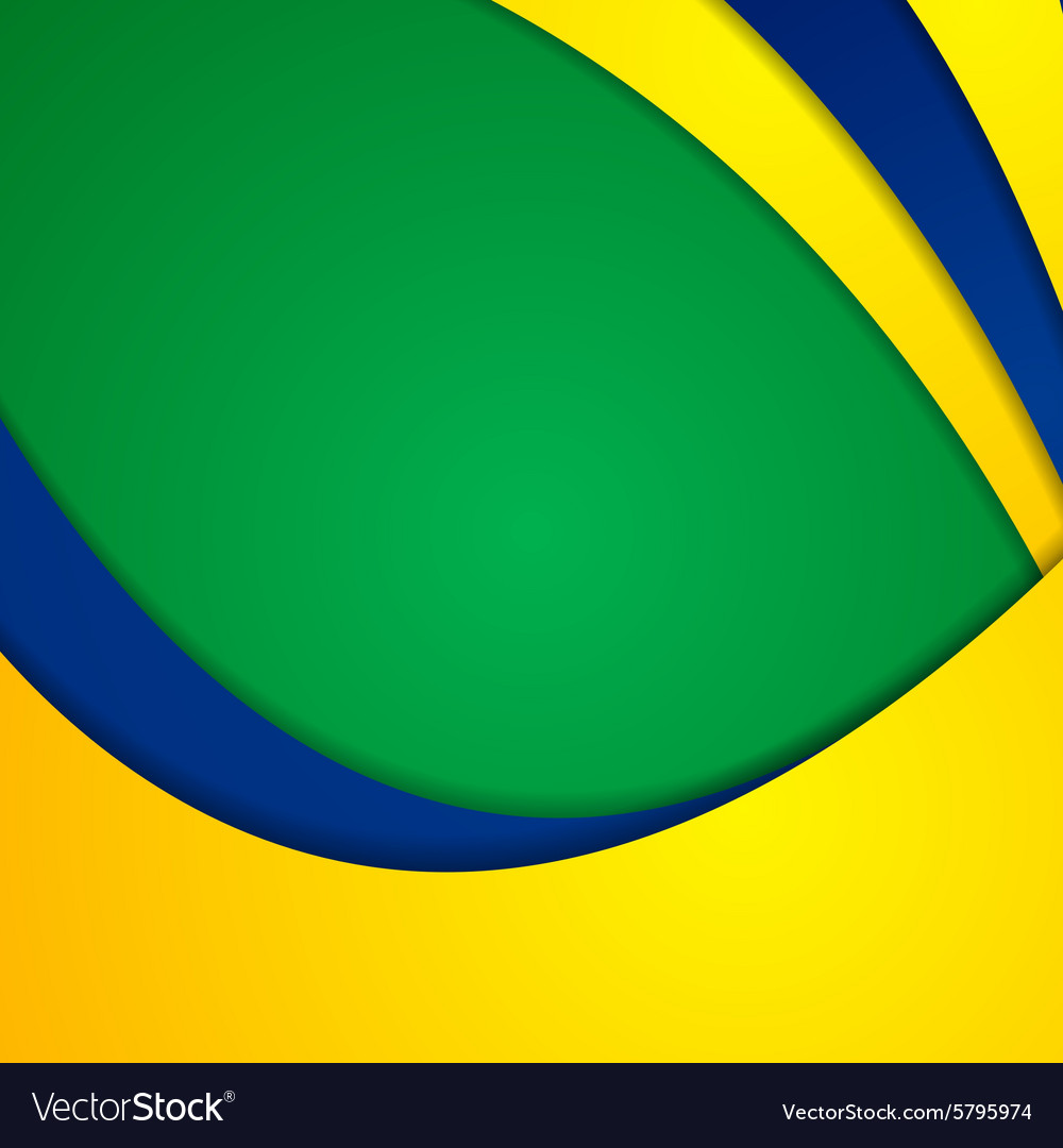 Corporate wavy bright abstract background vector image