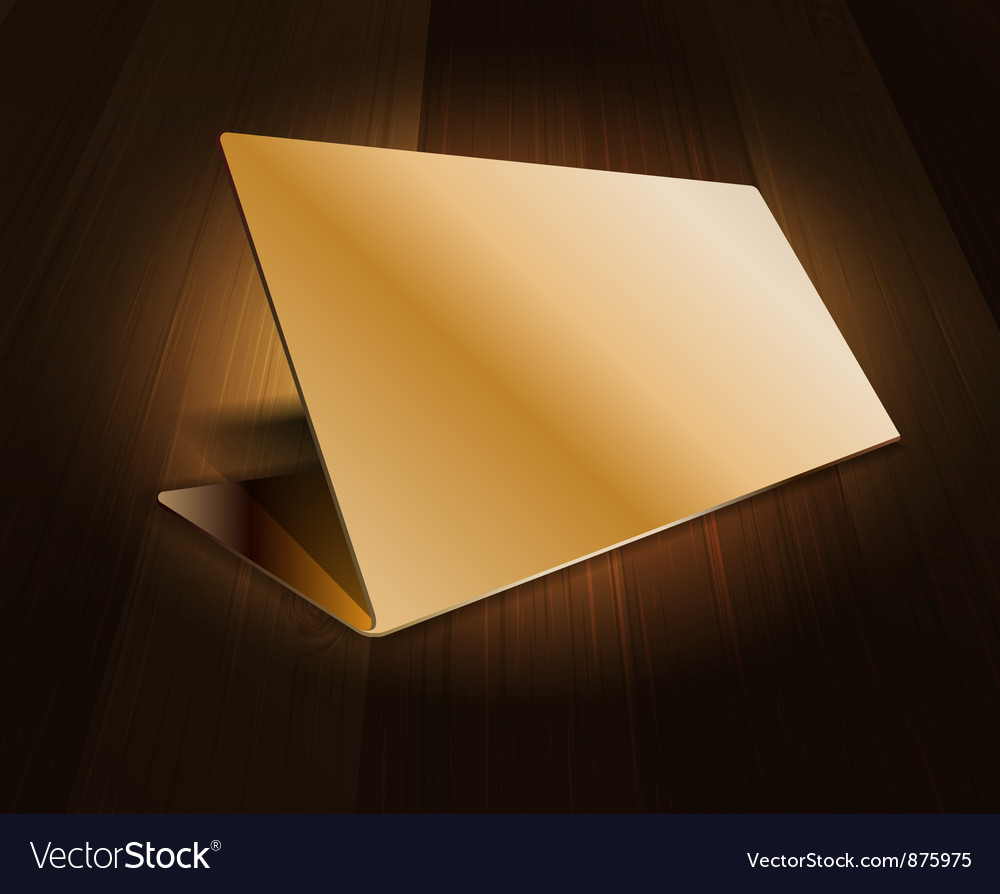 Metal plate on wood background vector image