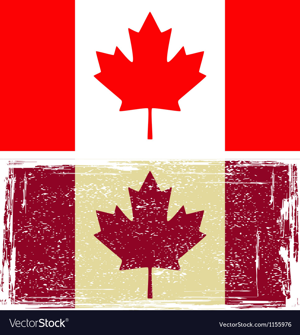 Canadian flags Vector Image