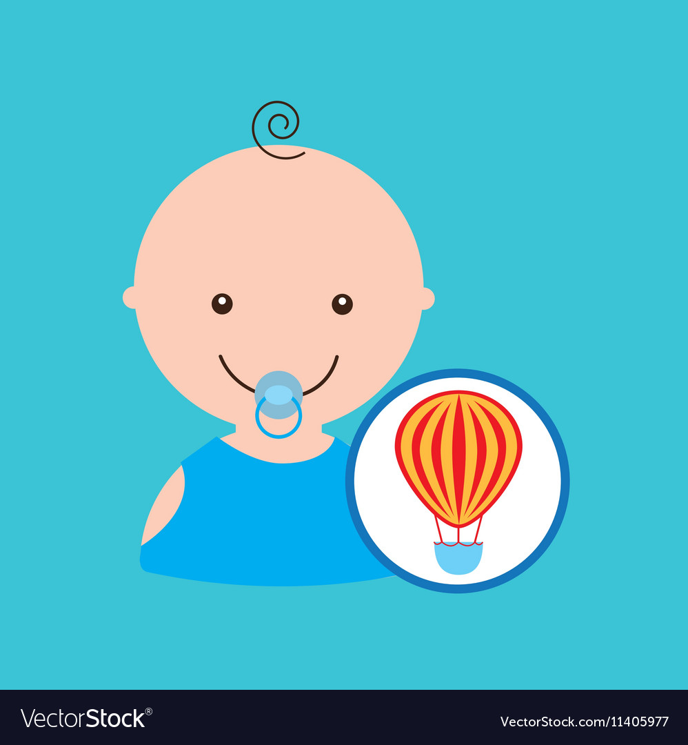 Funny airballoon toy baby icon vector image