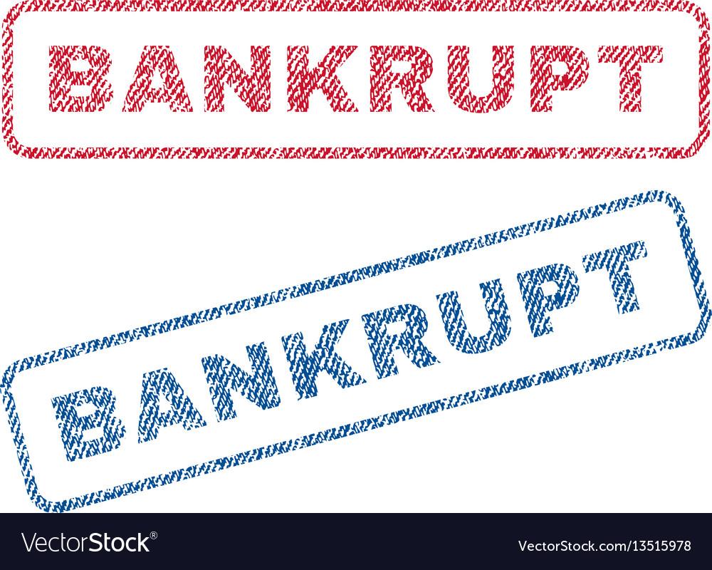 Bankrupt textile stamps vector image