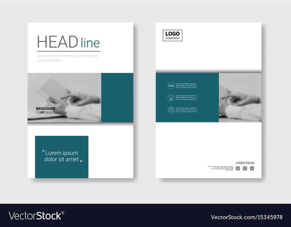 Template design brochure set annual report vector image