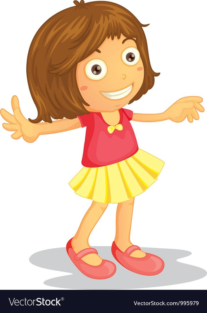 Cartoon Young Girl vector image