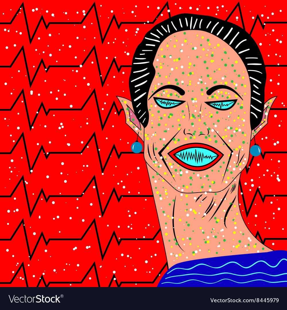 Halloween women background vector image