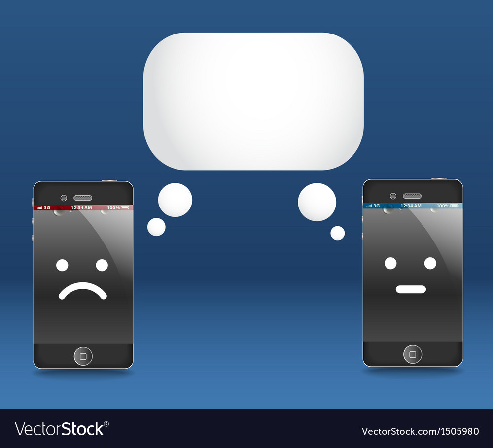 Modern phones with speech cloud Conversation vector image