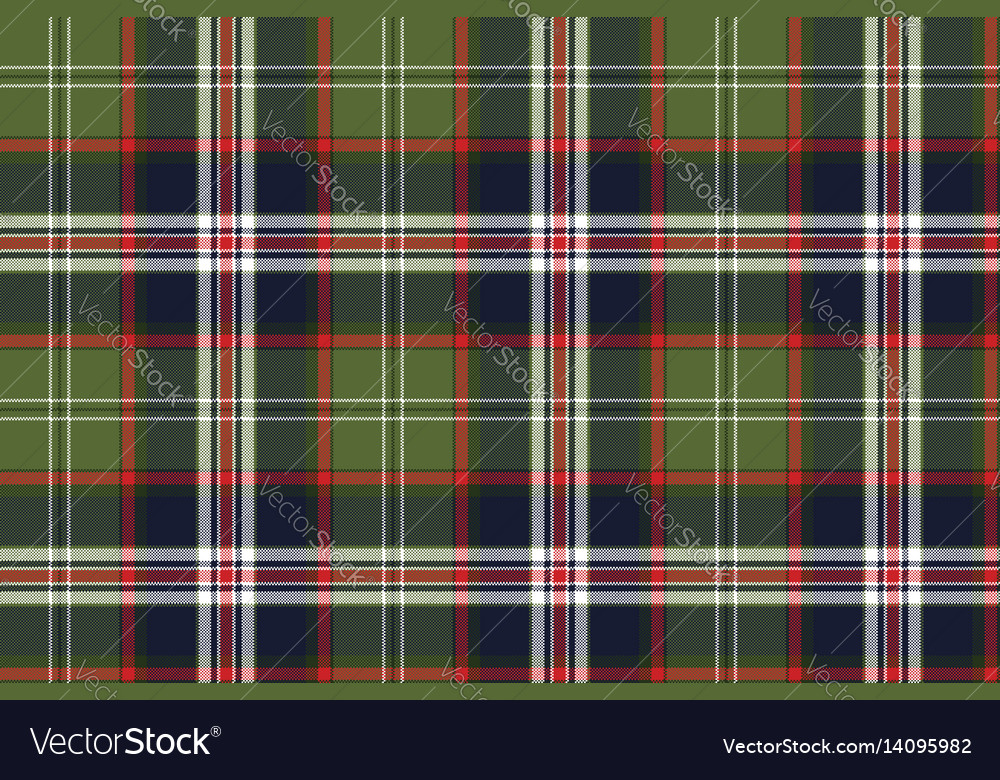 Blue green check plaid seamless pattern Royalty Free Vector