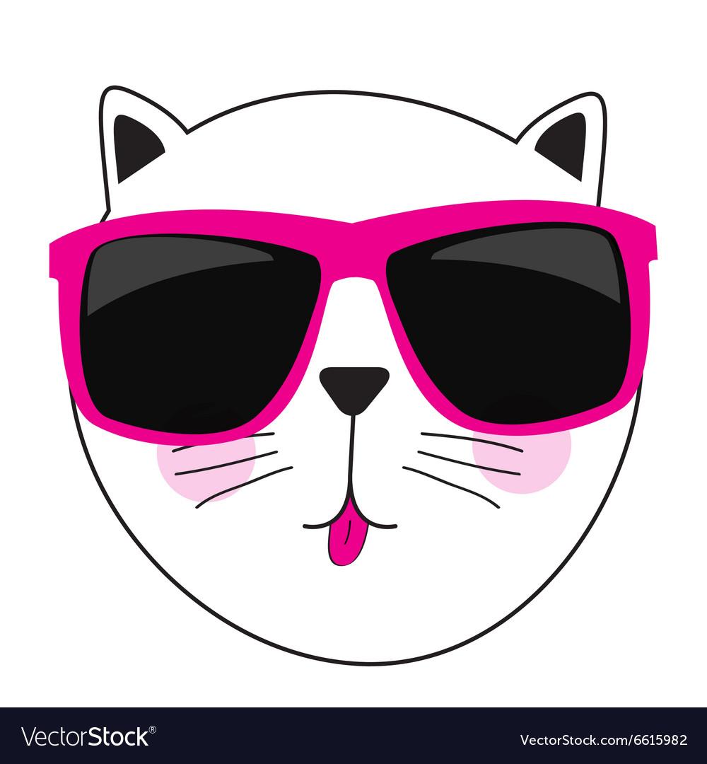Cute Handdrawn Cat vector image