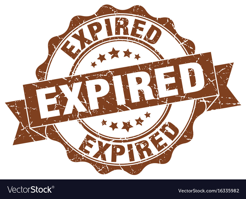 Expired stamp sign seal vector image