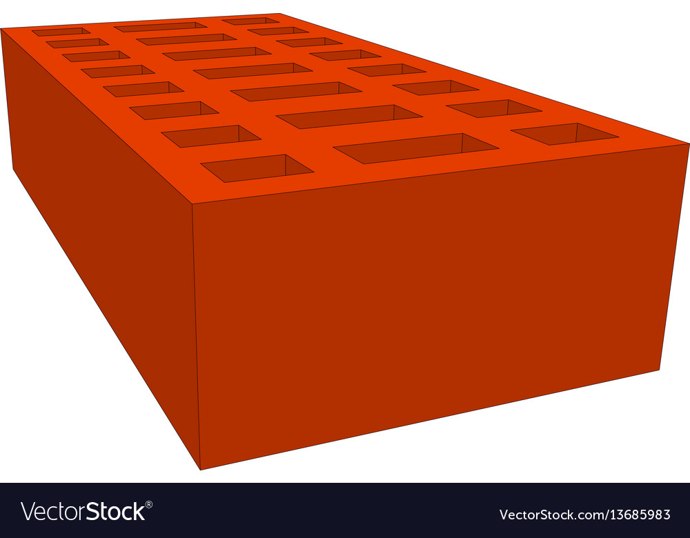 Brick on white vector image