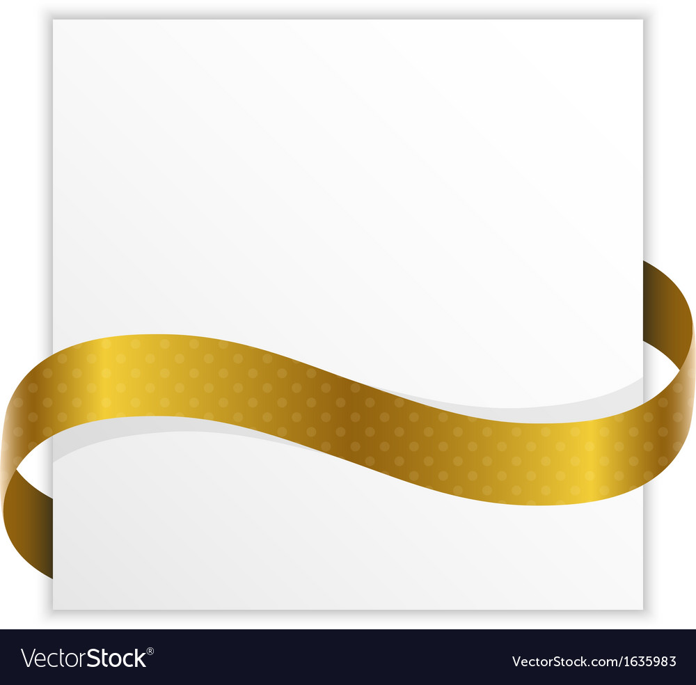Winner note with golden ribbon vector image