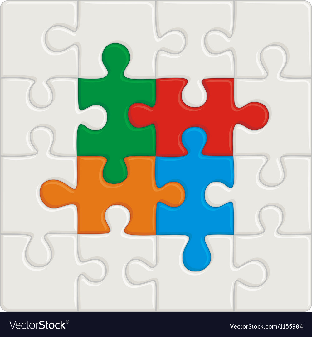 Many-colored puzzle pattern removable pieces vector image