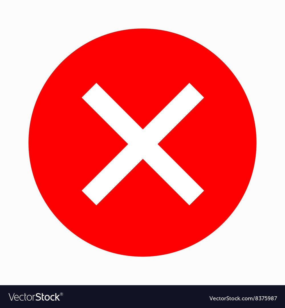 Red cross check mark icon simple style royalty free vector red cross check mark icon simple style vector image buycottarizona Image collections