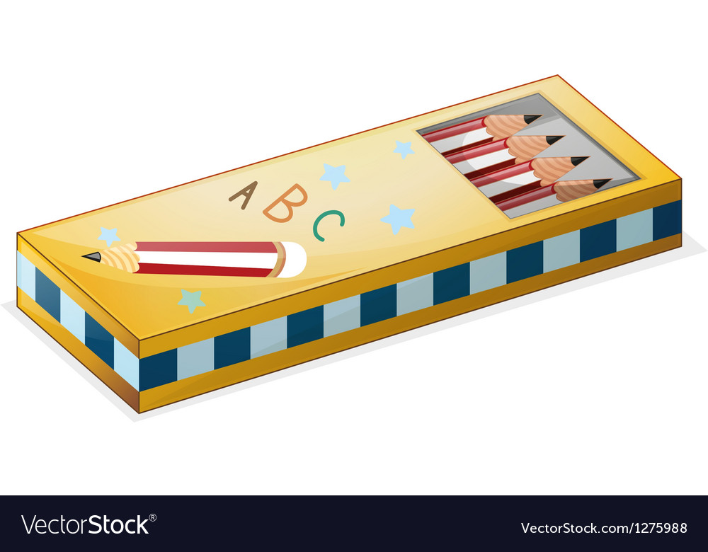 A pencil case vector image